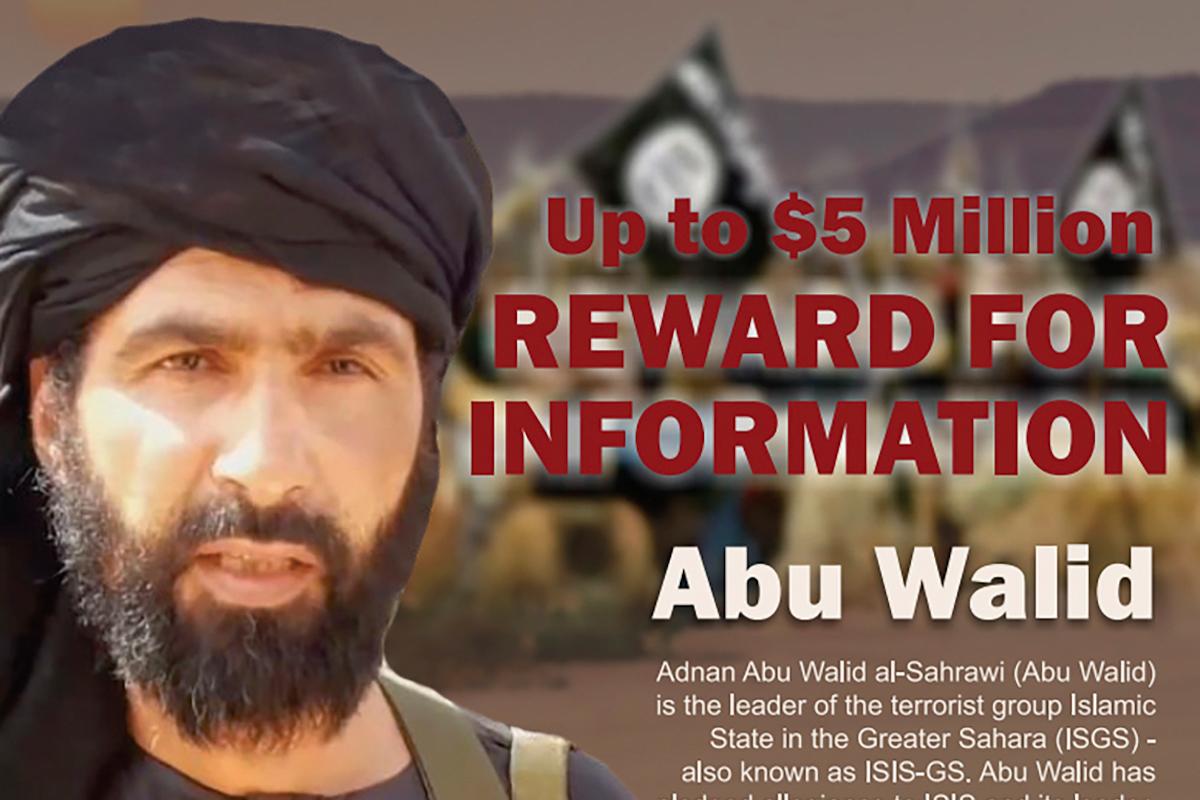Cartel de EEUU ofreciendo la recompensa por la cabeza de Abú Walid.
