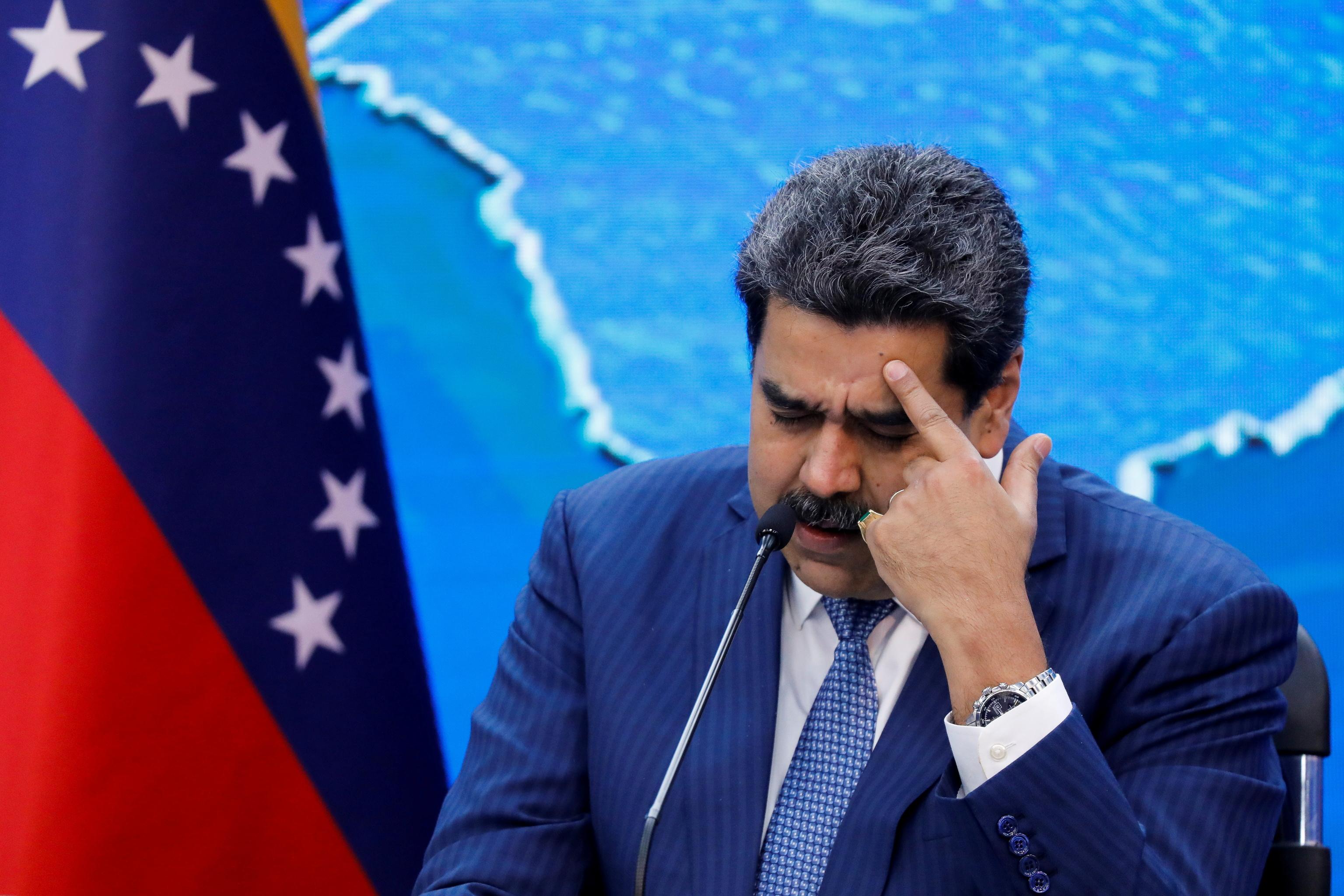 El presidente venezolano, Nicolás Maduro, en una rueda de prensa.