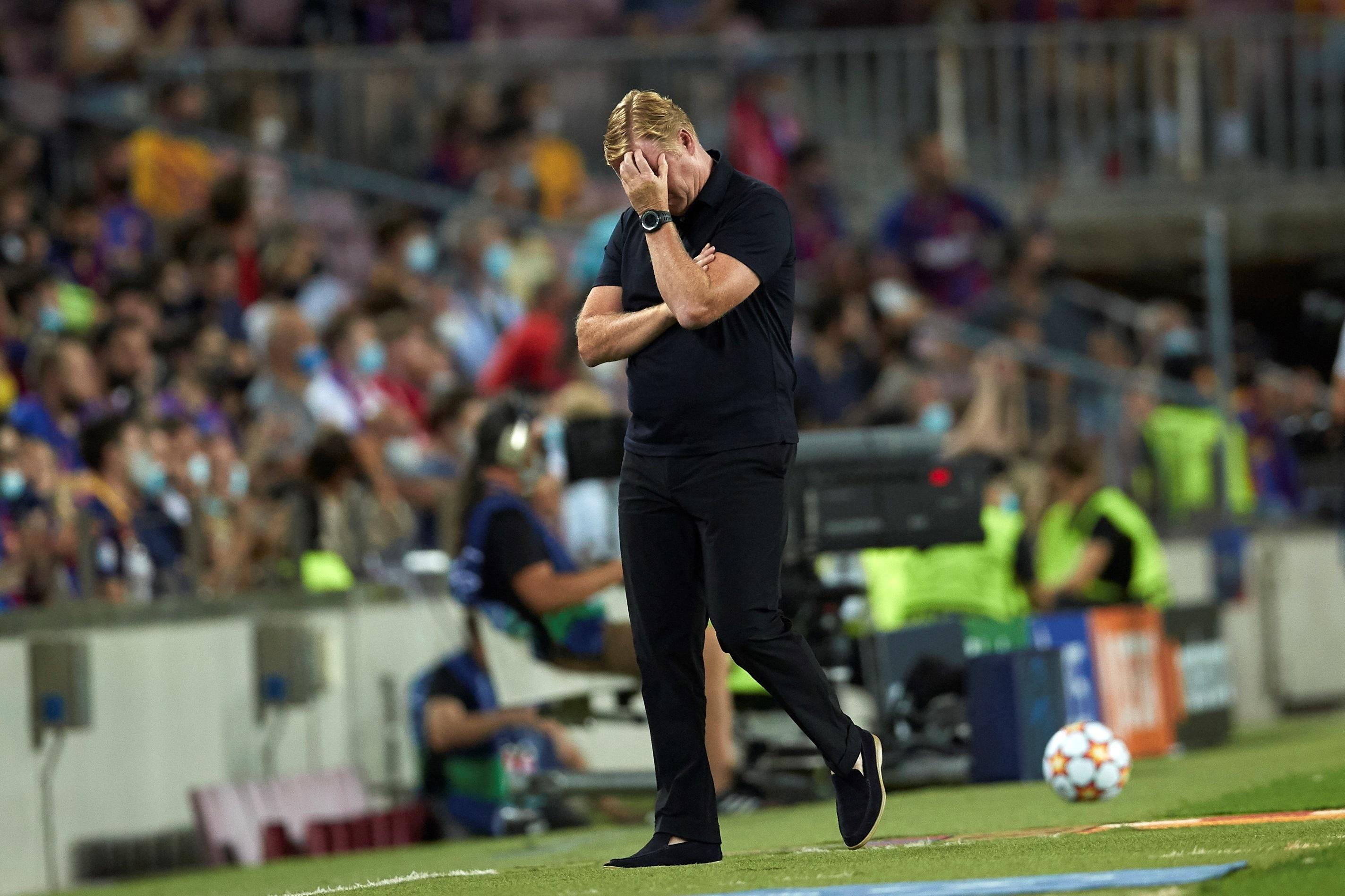 Koeman, durante el partido ante el Bayern.