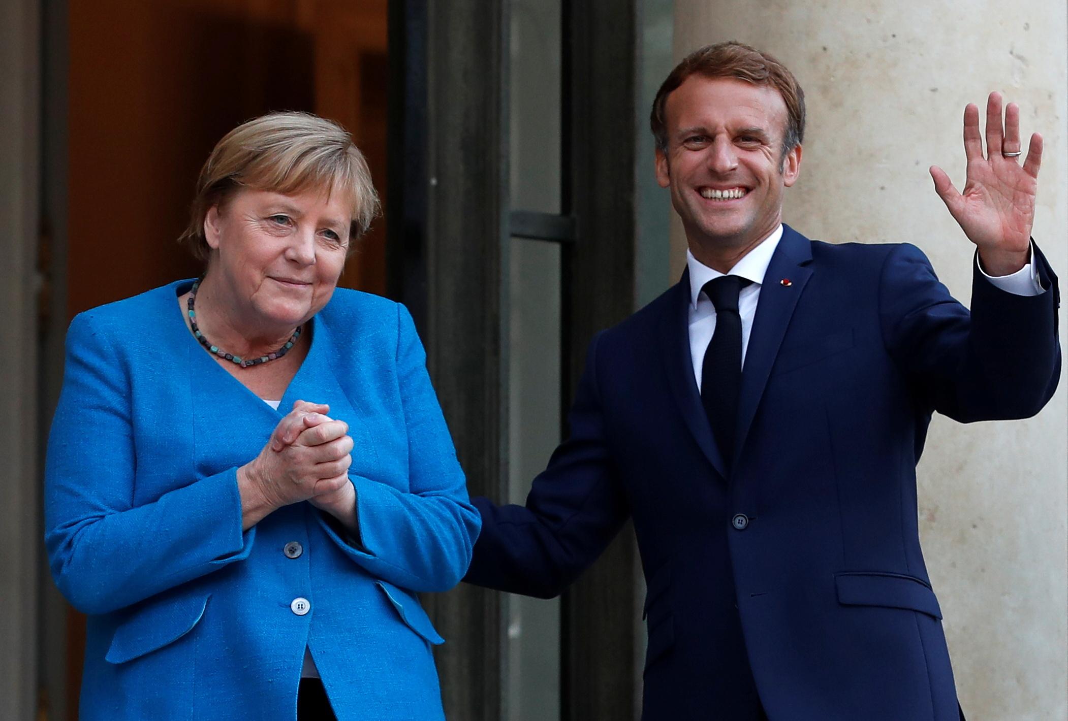 Merkel y Macron, en el Elíseo.