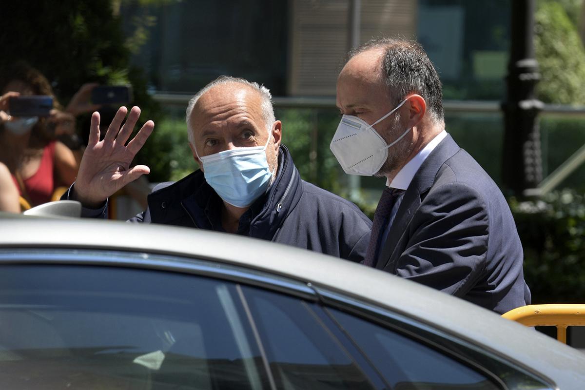 José Luis Moreno sale de la Audiencia Nacional tras quedar en libertad bajo fianza el pasado 1 de julio.