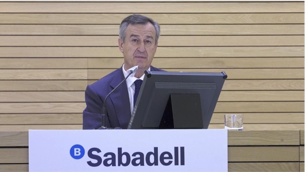 César González-Bueno, CEO del Banco Sabadell.