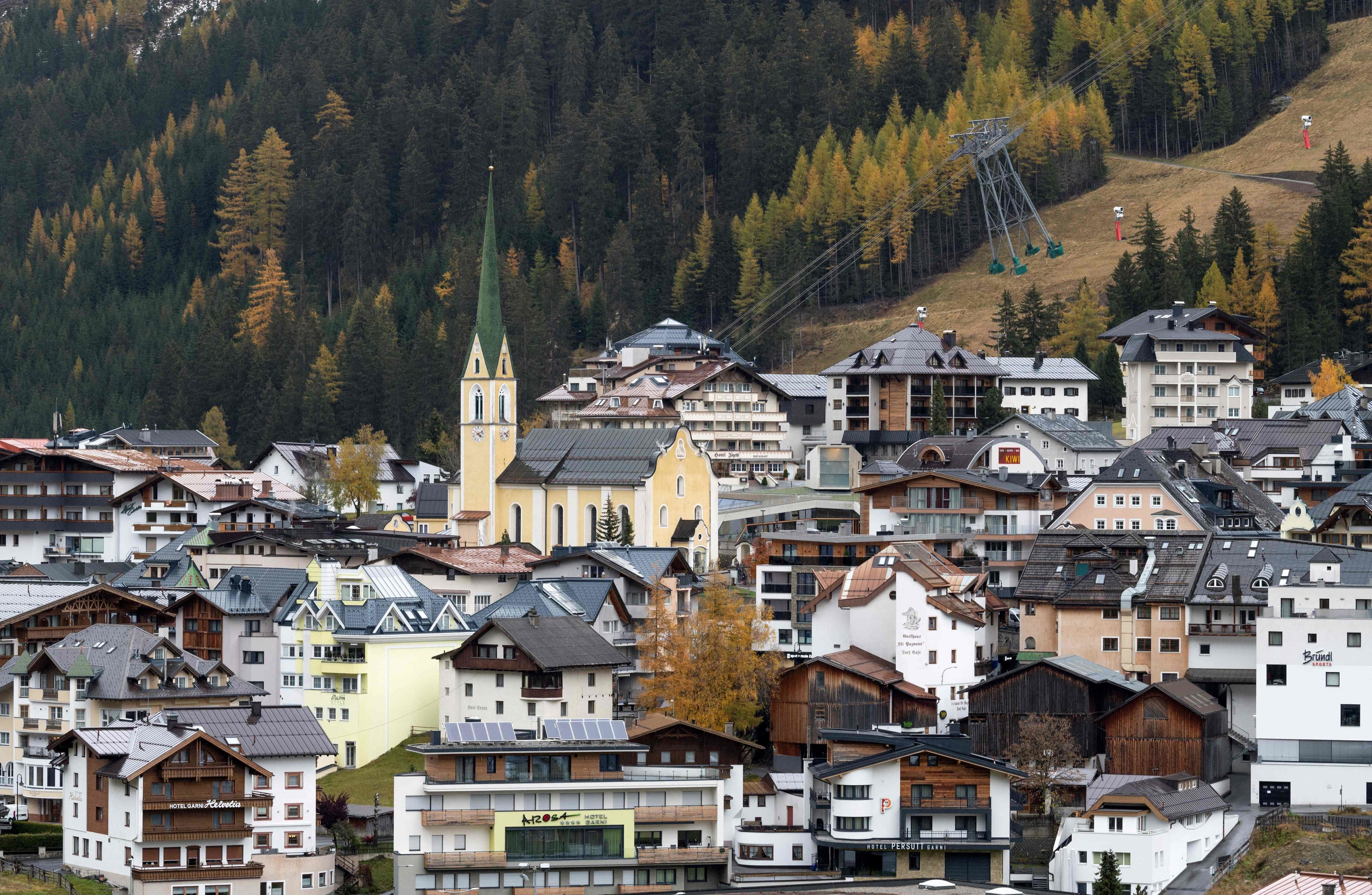 Vista del pueblo de Ischgl, en Austria.