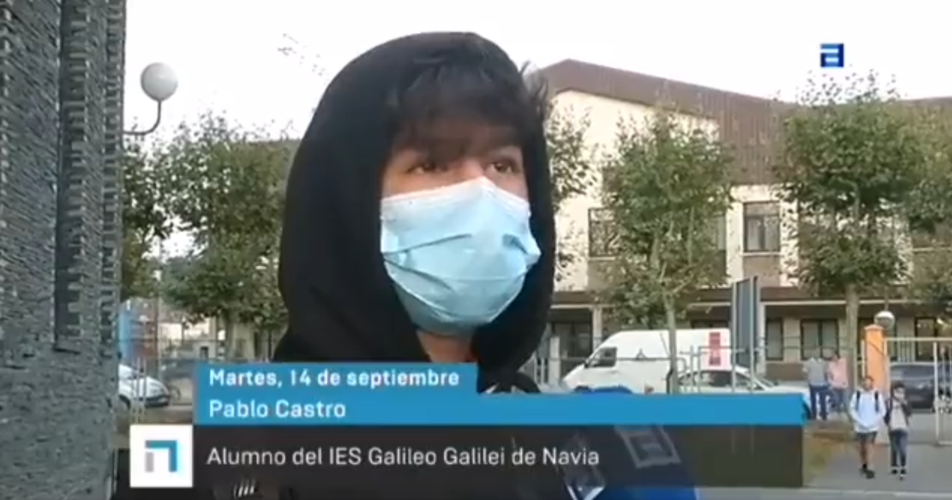 Pablo Castro, estudiante del IES Galileo Galilei de Navia.