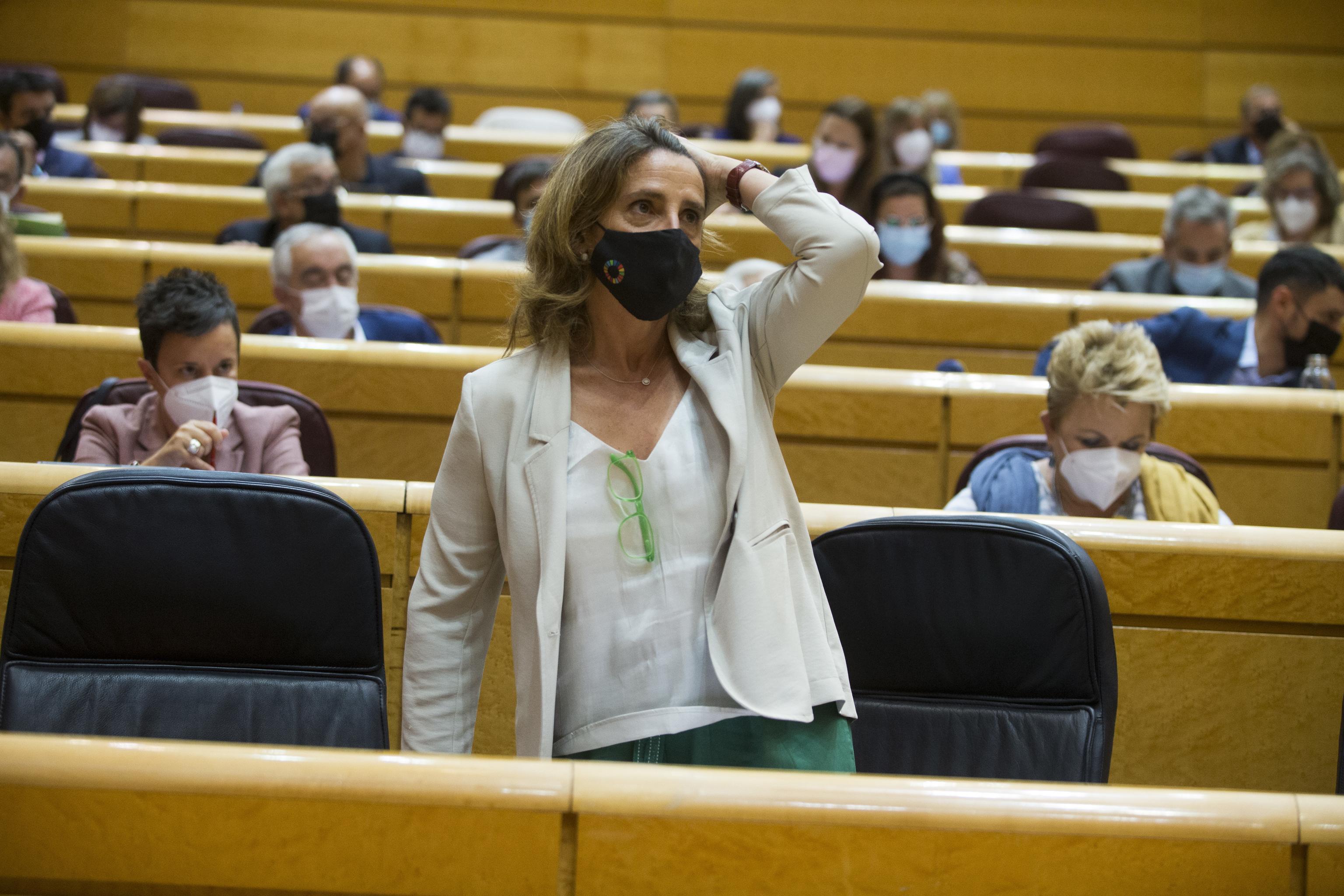 La vicepresidenta tercera, Teresa Ribera, el pasado martes en el Senado