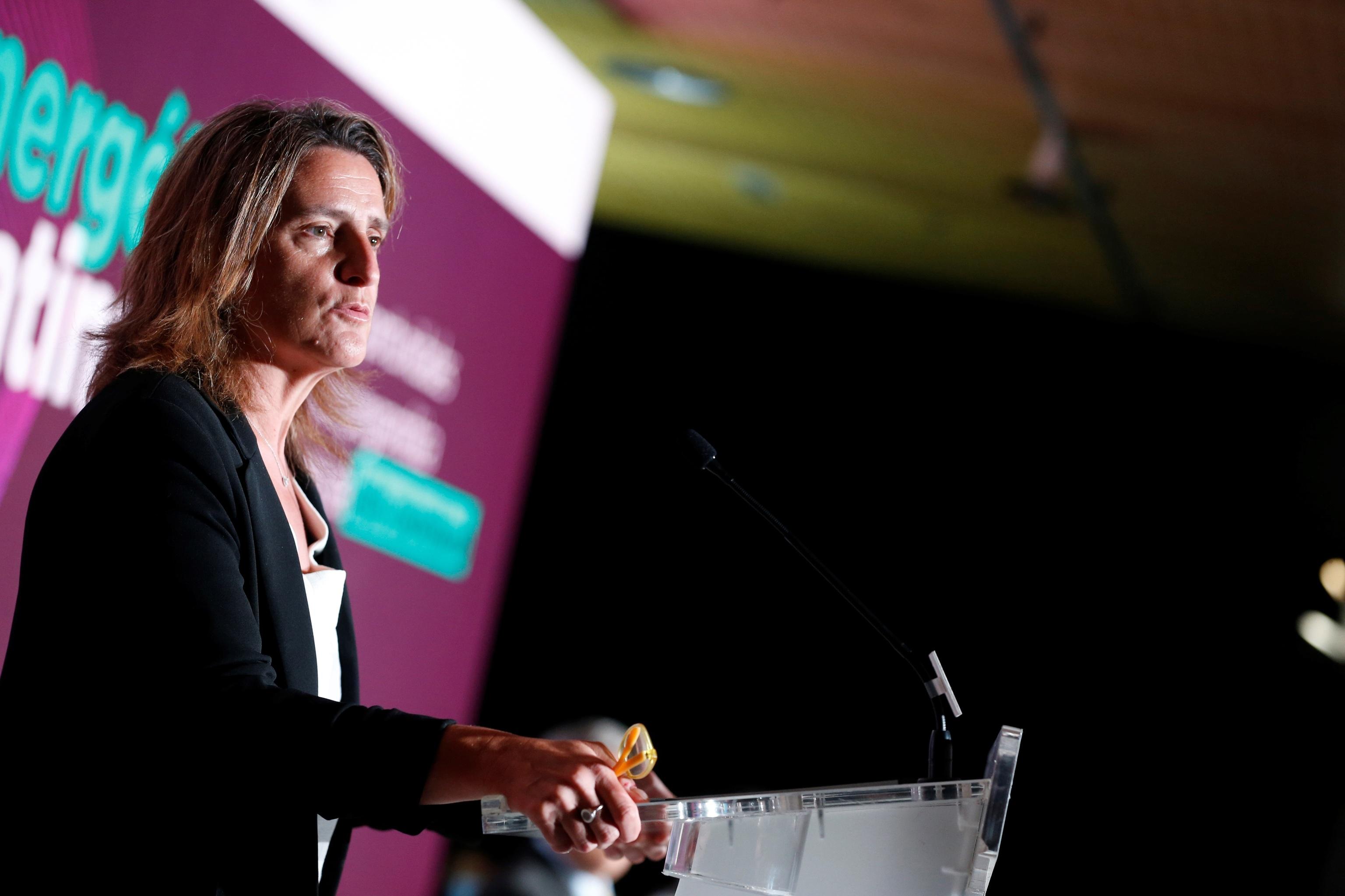 La vicepresidenta tercera y ministra para la Transición Ecológica y de Reto Demográfico, Teresa Ribera, este viernes en Madrid.