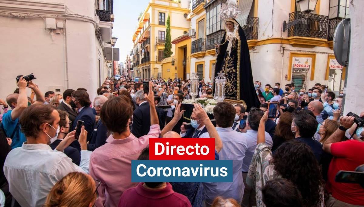 Primer rosario público en Sevilla tras la pandemia de coronavirus