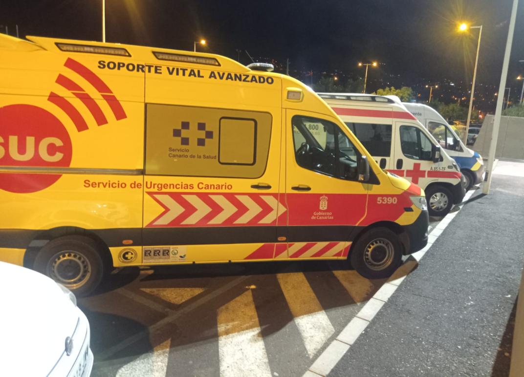 Una ambulancia del Servicio de Urgencias Canario.