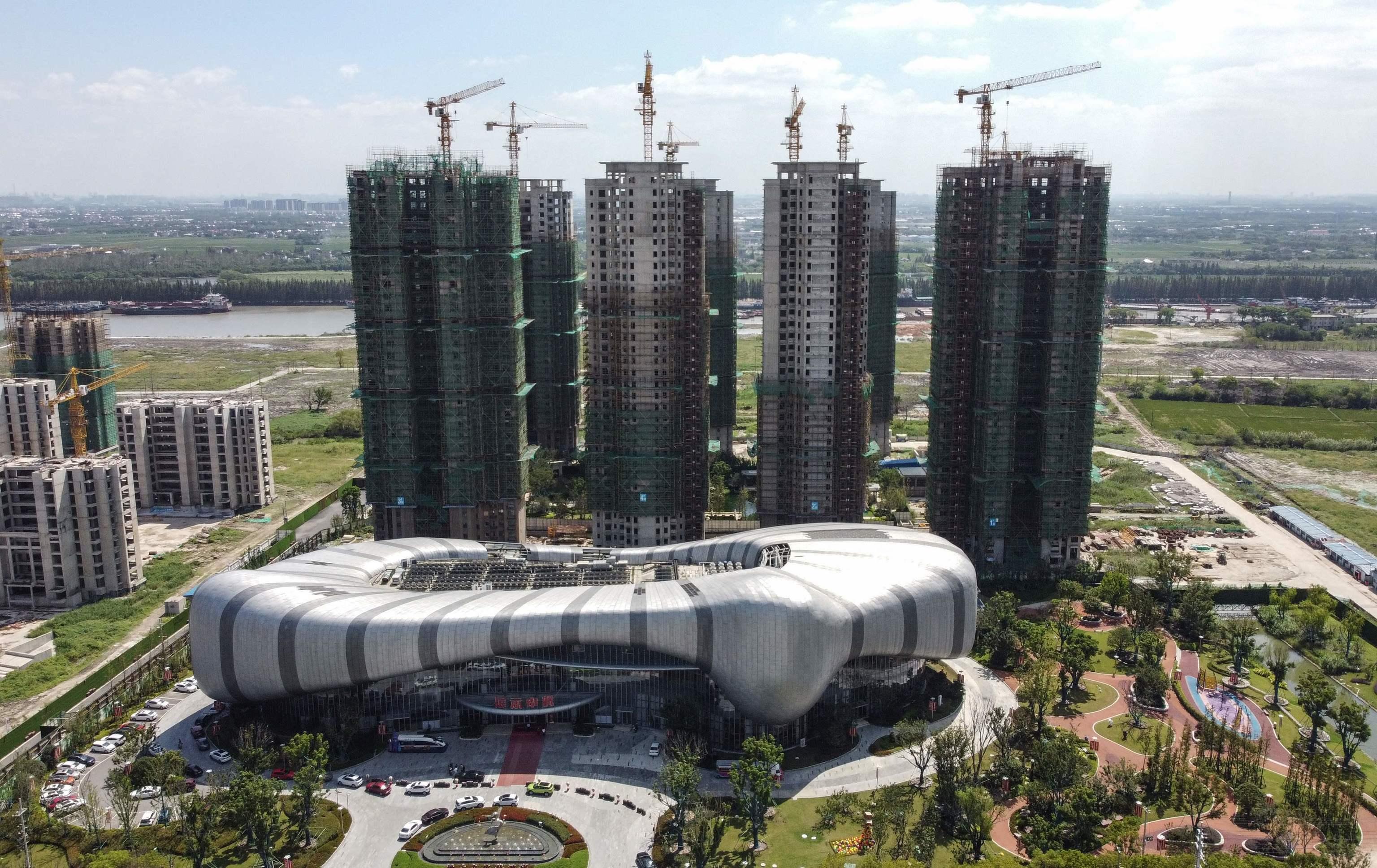 Una construcción de Evergrande en la provincia china de  Jiangsu province.
