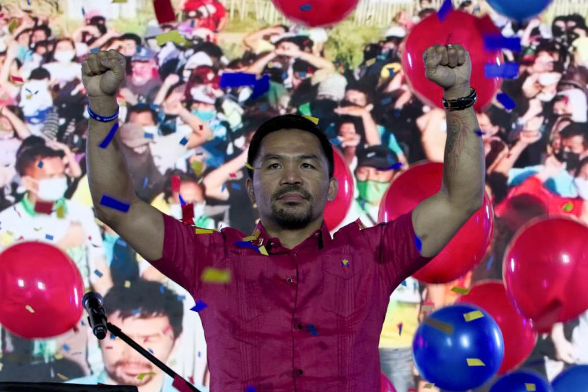 مانی پاکیائو در جریان کنگره