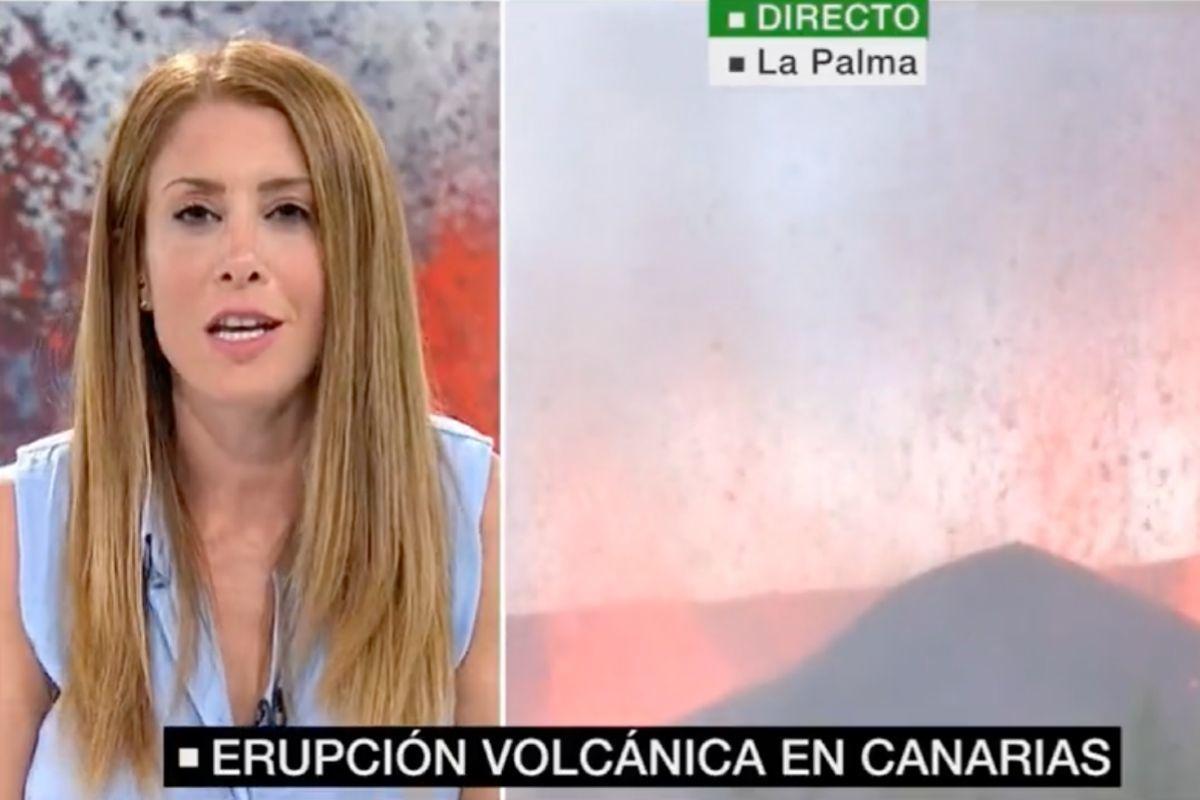 """El mensaje sacado de contexto de una presentadora de La Sexta: """"¿Cómo se apaga el volcán de La Palma?"""""""