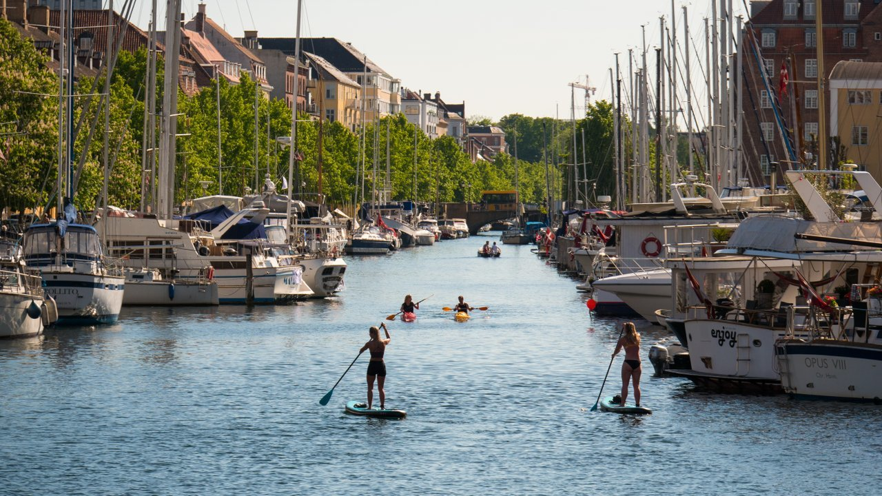 Los canales de la Copenhague.