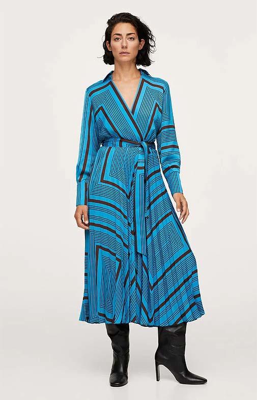 Vestido de rayas de Mango (59,99 euros).