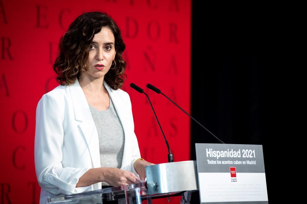 Isabel Díaz Ayuso, en la presentación de la Oficina del Español.