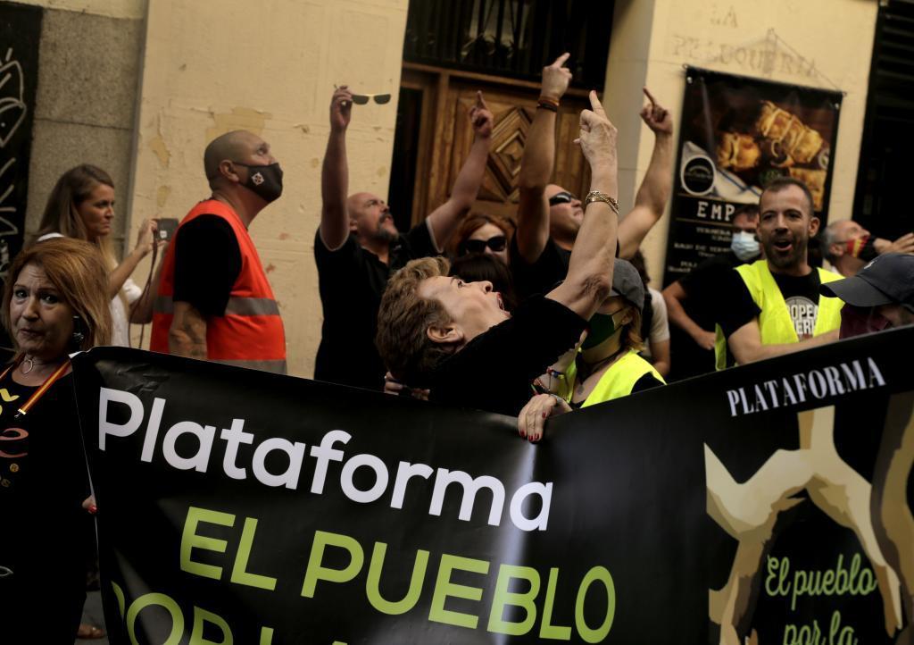 Participantes en la marcha celebrada en el barrio madrileño de Chueca.