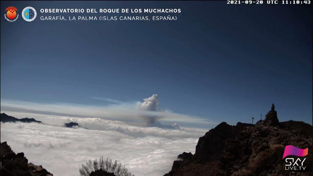 La erupción en La Palma, en una imagen del Observatorio del Roque de los Muchachos