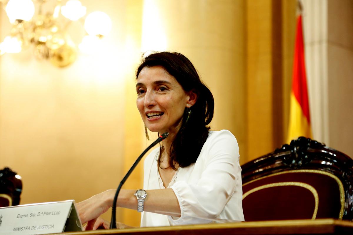 Pilar Llop, en el Senado.