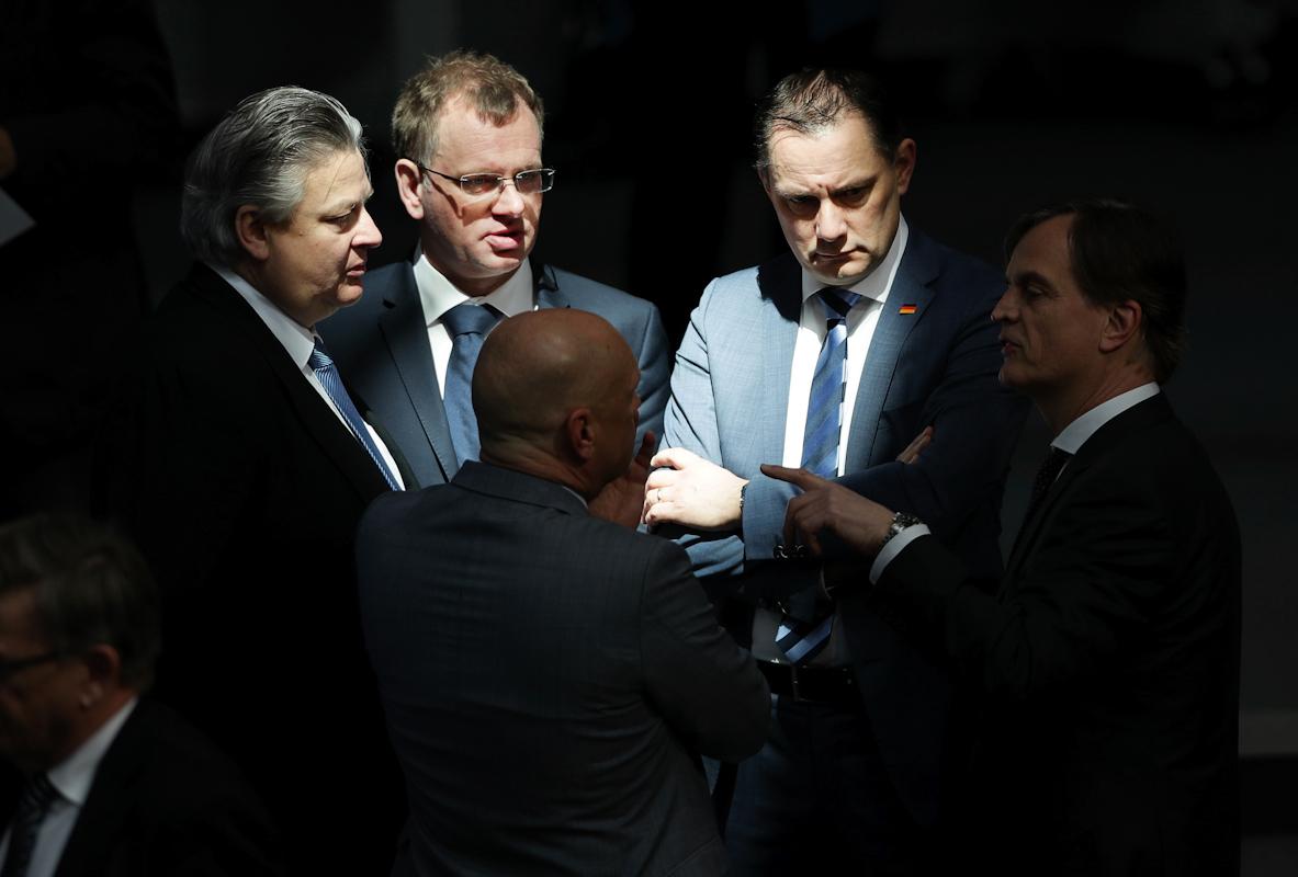 Miembros del partido AfD, en el Bundestag.