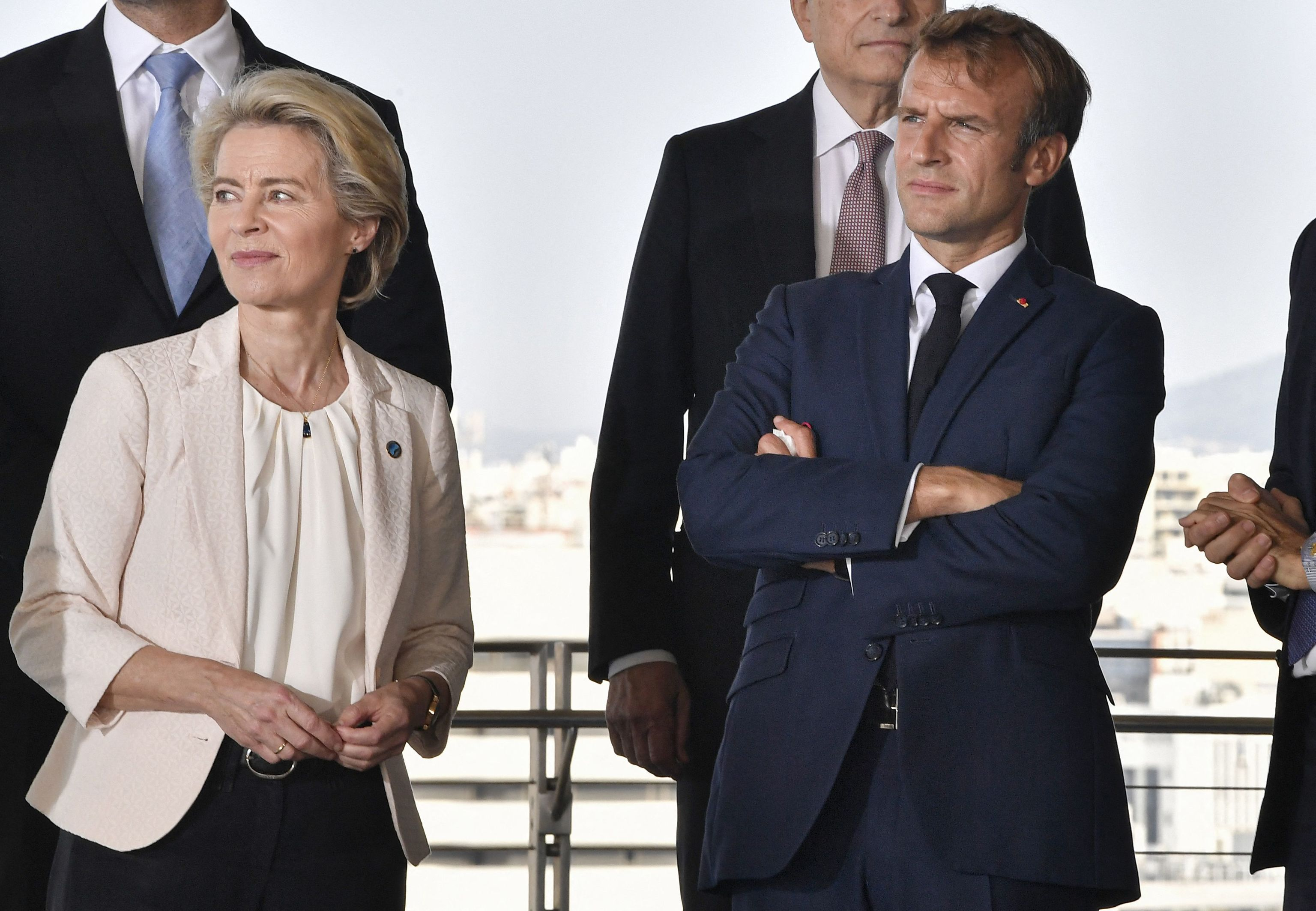 Ursula von der Leyen y el presidente francés, Emmanuel Macron.