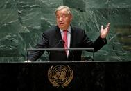 Antonio Guterres, en el discurso de apertura de la Asamblea General.