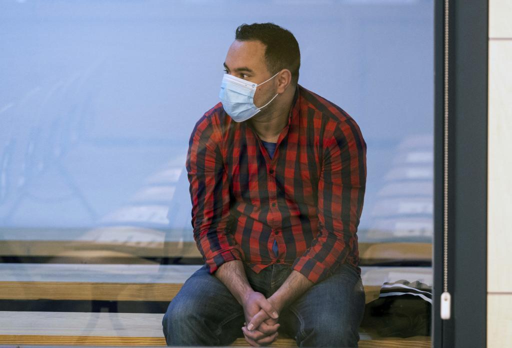 Said ben Iazza, en el banquillo de la Audiencia Nacional durante el juicio por los atentados de Barcelona