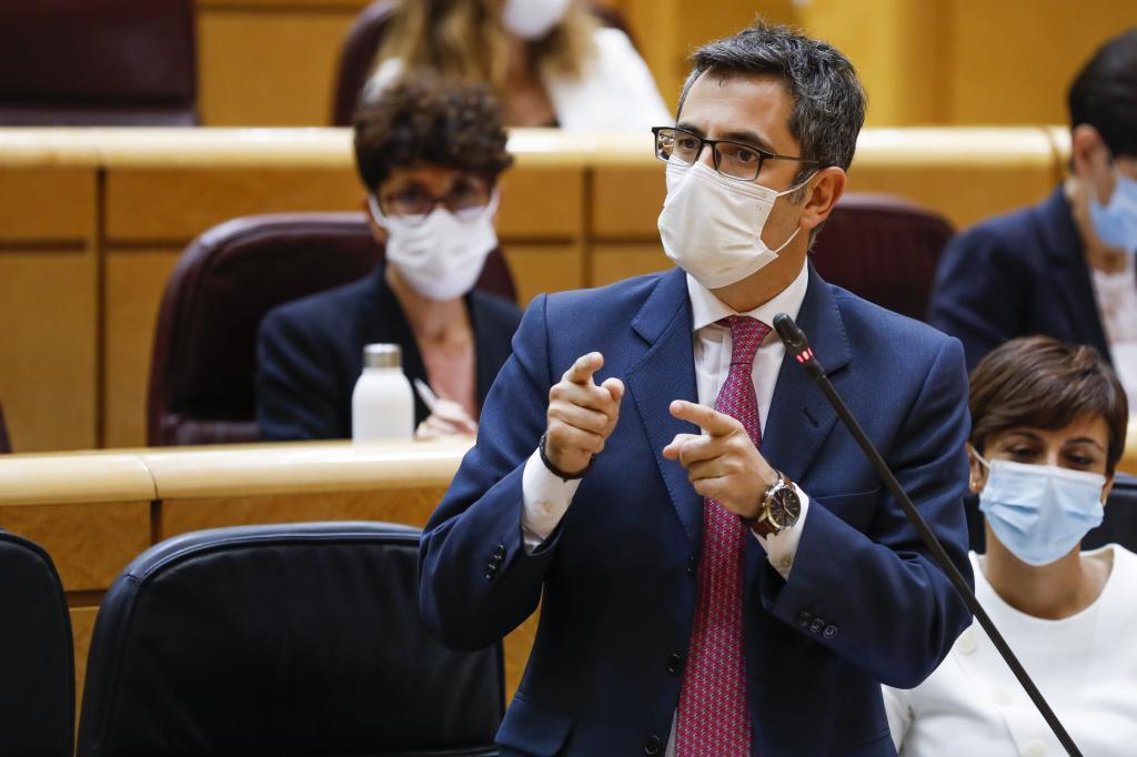 Félix Bolaños, en el Senado.