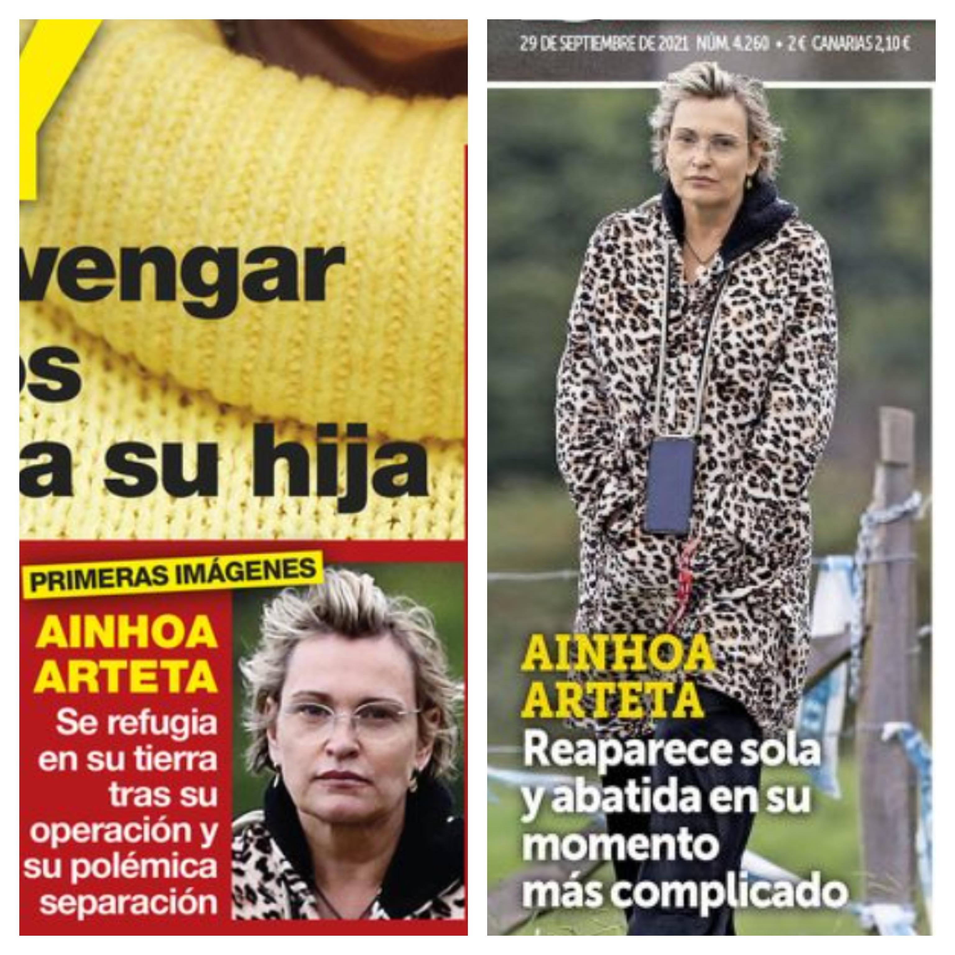 Ainhoa Arteta en las portadas de Diez Minutos y Semana.