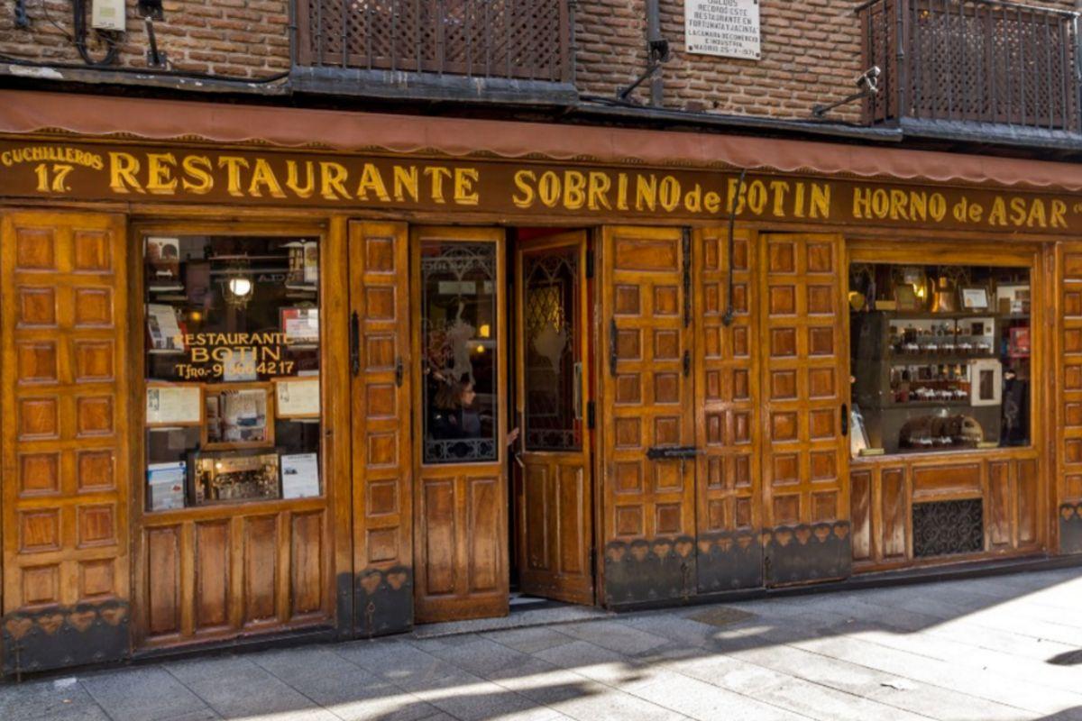 Fachada del restaurante Botín.