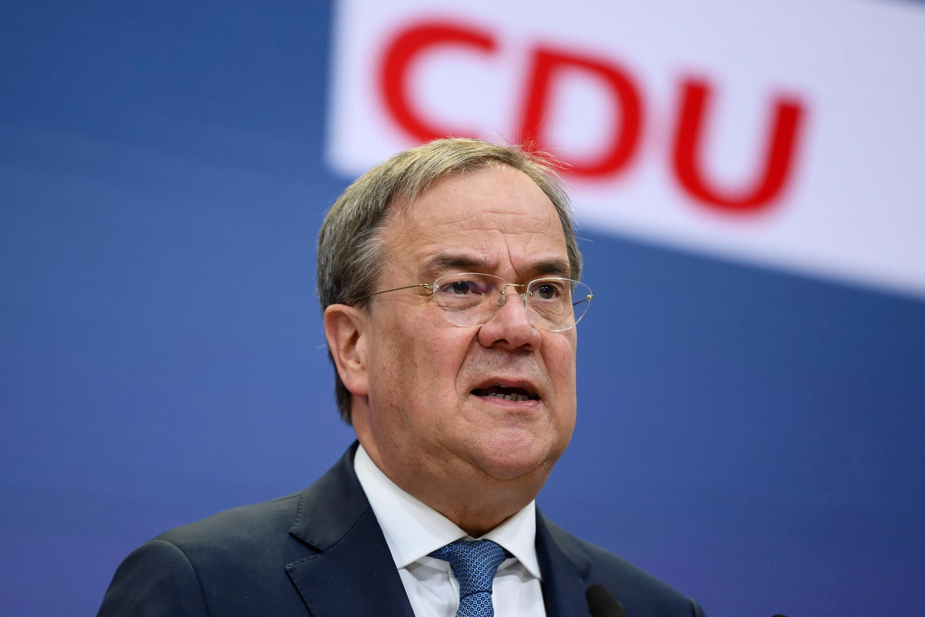 El candidato de la CDU a la Cancillería alemana, Armin Laschet.