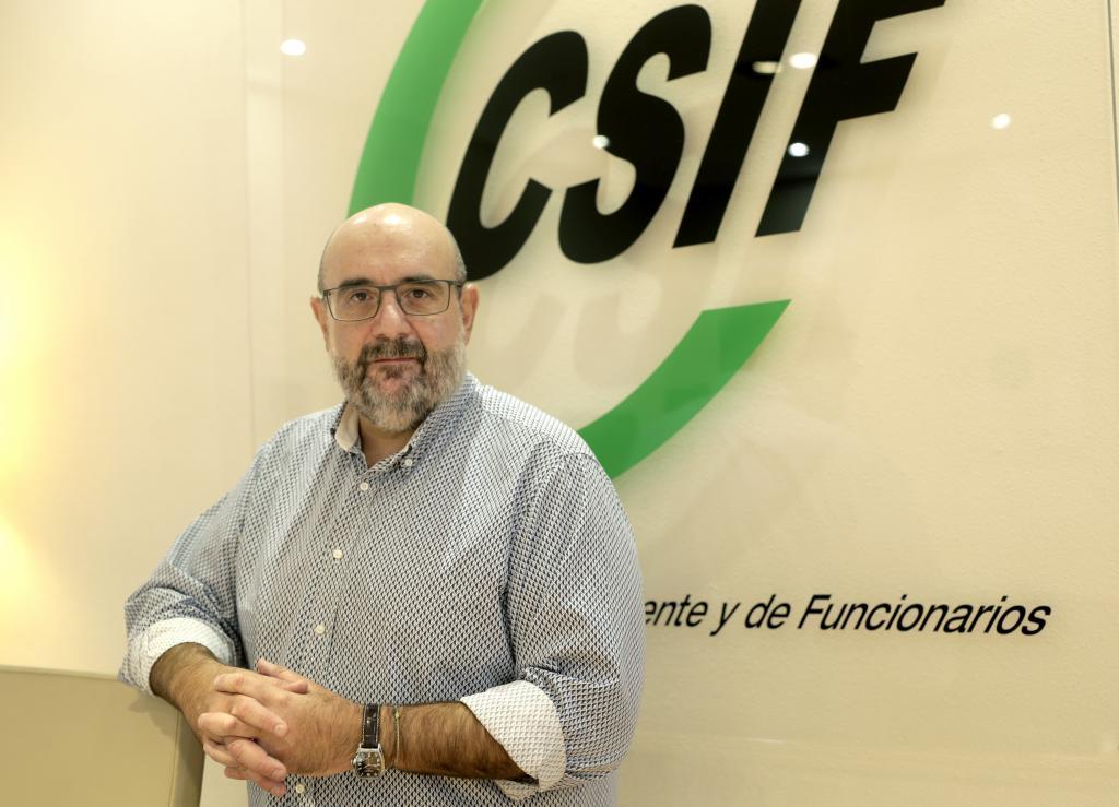 """Miguel Borra (CSIF): """"Exigimos una subida salarial para los funcionarios del 3,6% en 2022"""""""