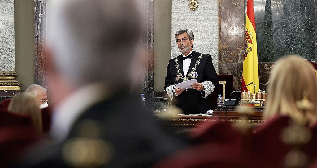 Carlos Lesmes, presidente del CGPJ, en la inauguración del Año Judicial.