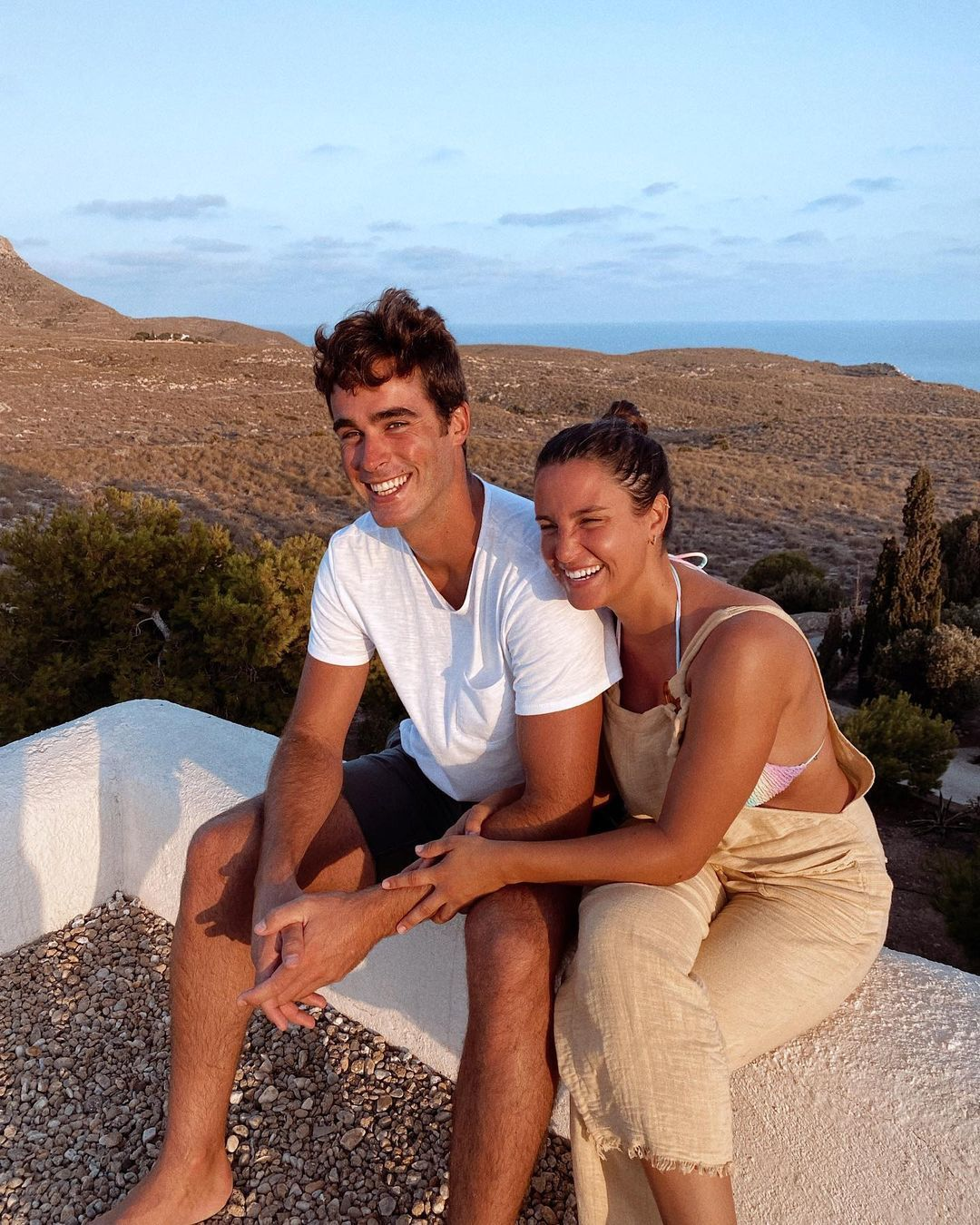 Marta Pombo y su novio.