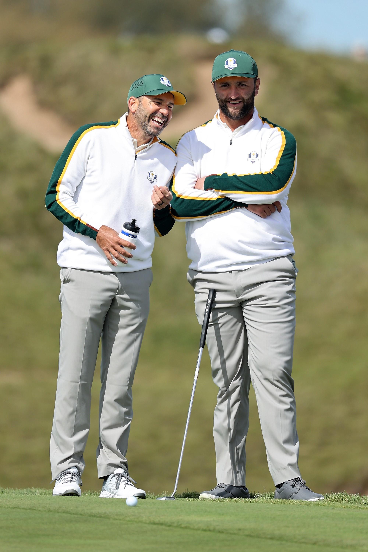 García y Rahm, en el campo Whistling Straits.