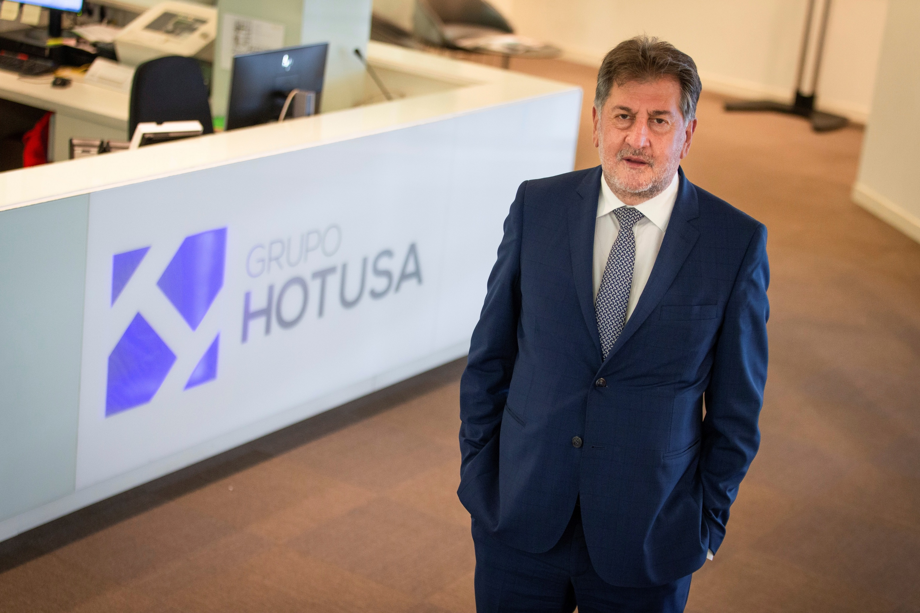 El presidente de Hotusa, Amancio López
