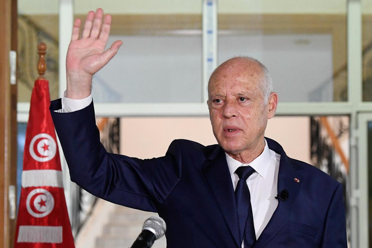 El presidente de Túnez, Kais Saied.