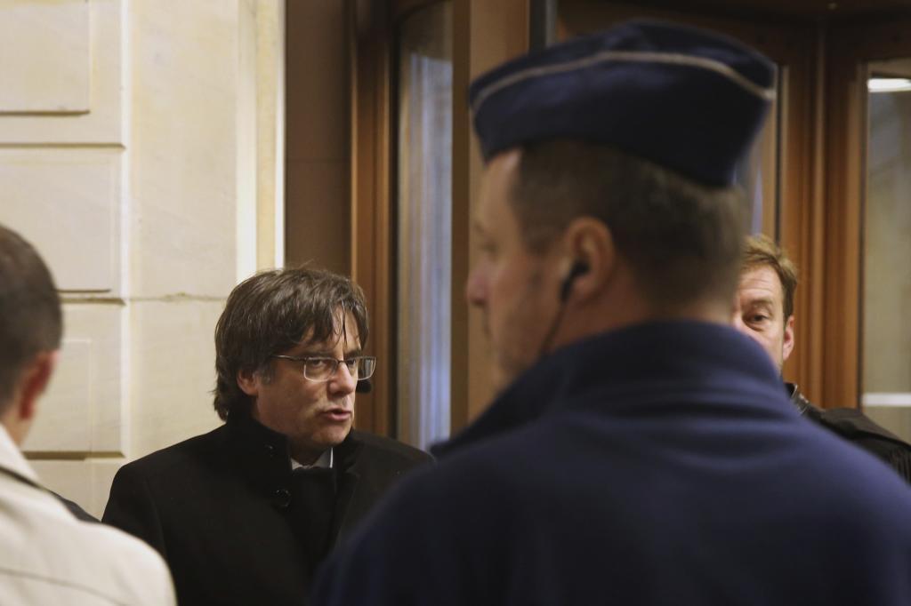 Carles Puigdemont, en diciembre de 2019 en la Corte de Justicia de Bruselas.