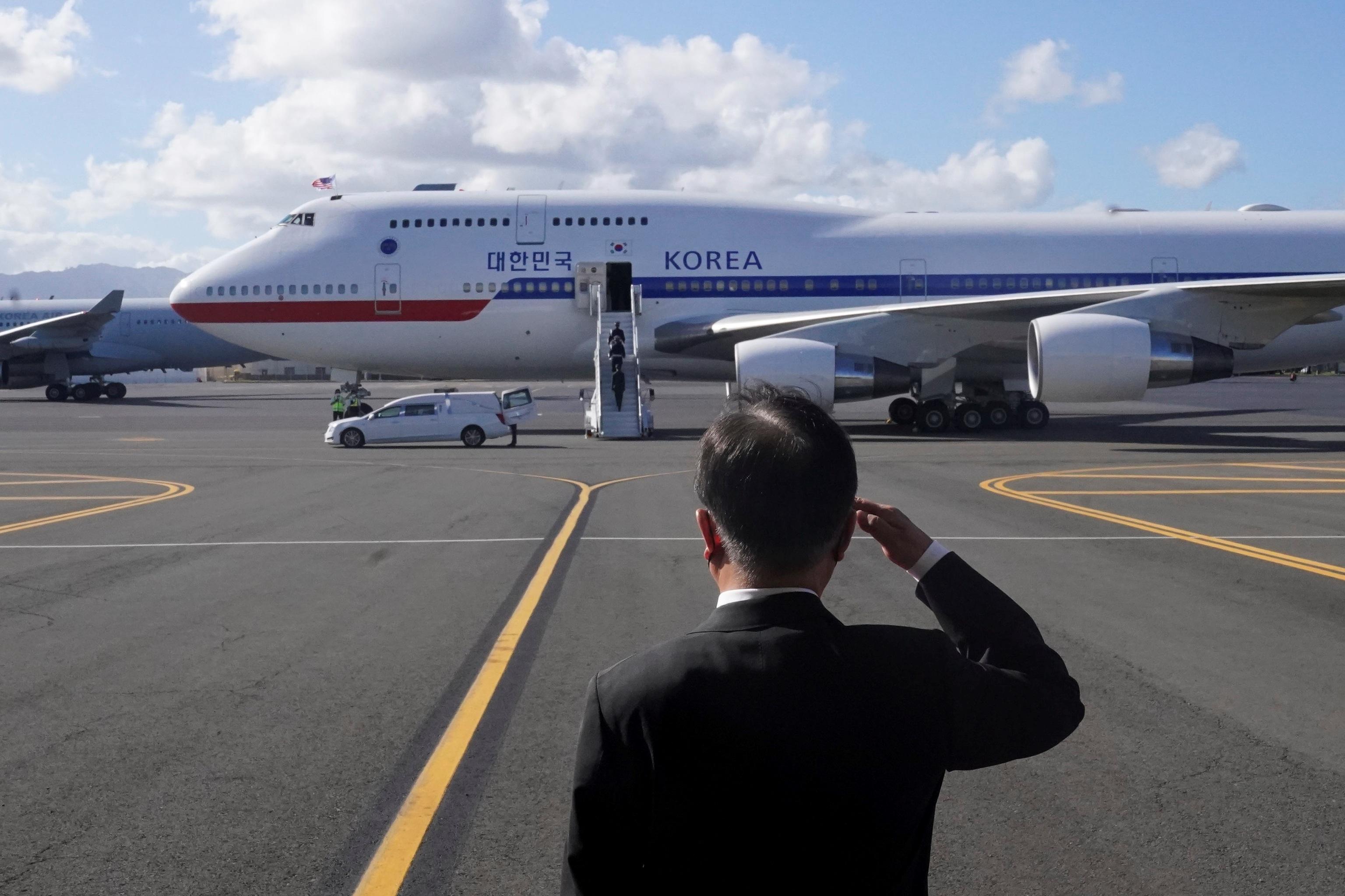 El presidente surcoreano, Moon Jae-in, en Hawai.