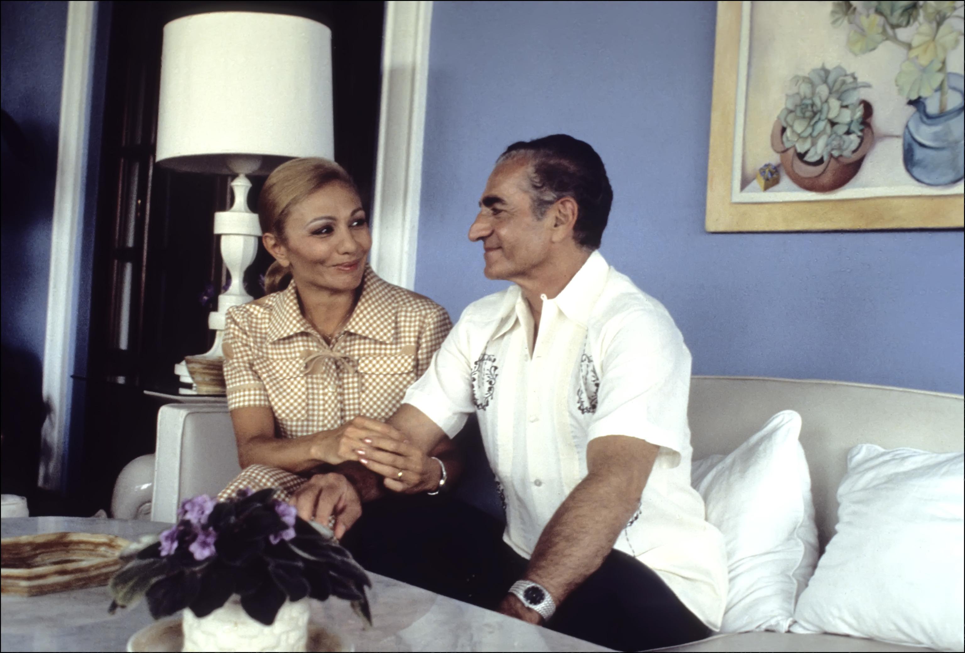 El Sha y Farah Diba en los años 70