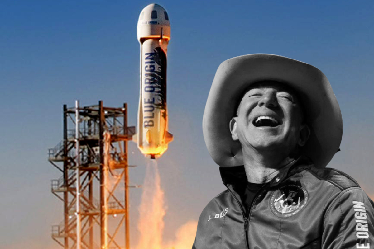 Jeff Bezos recibió fuertes críticas tras su vuelo espacial con su empresa Blue Origin.