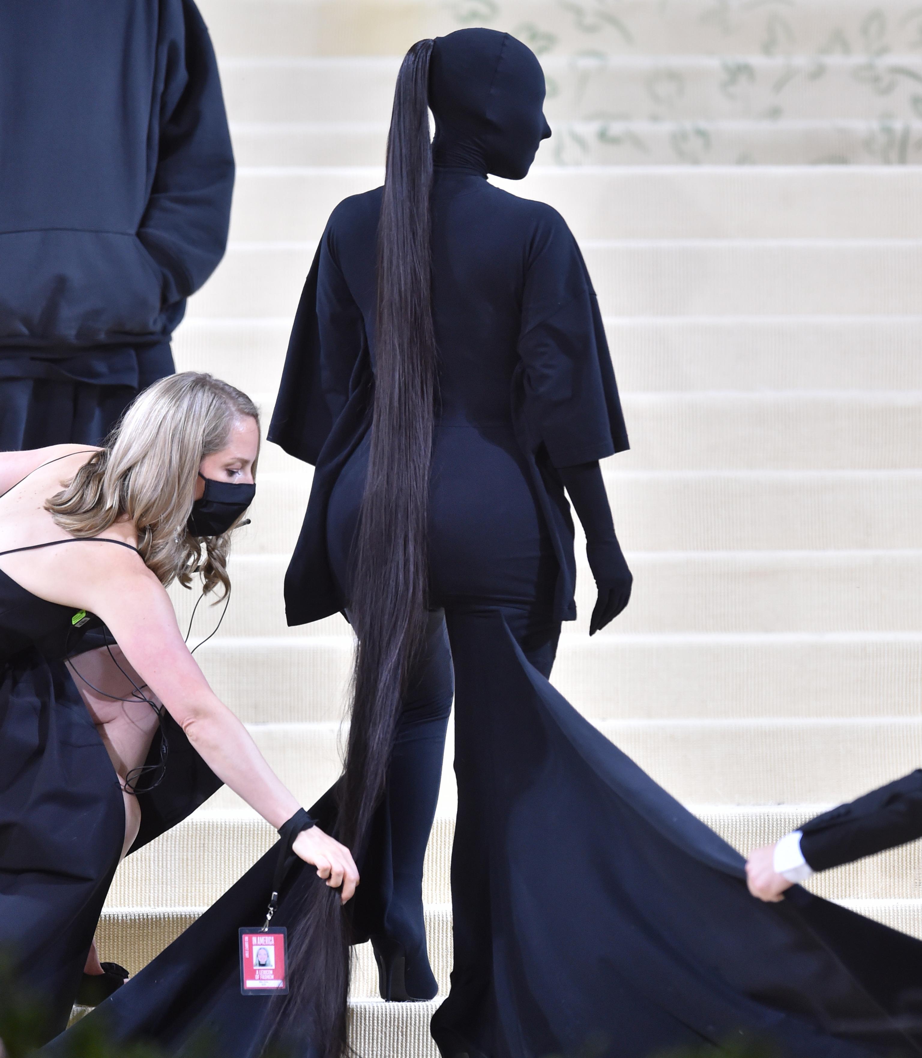 Kim Kardashian, a su llegada a la Gala Met 2021.