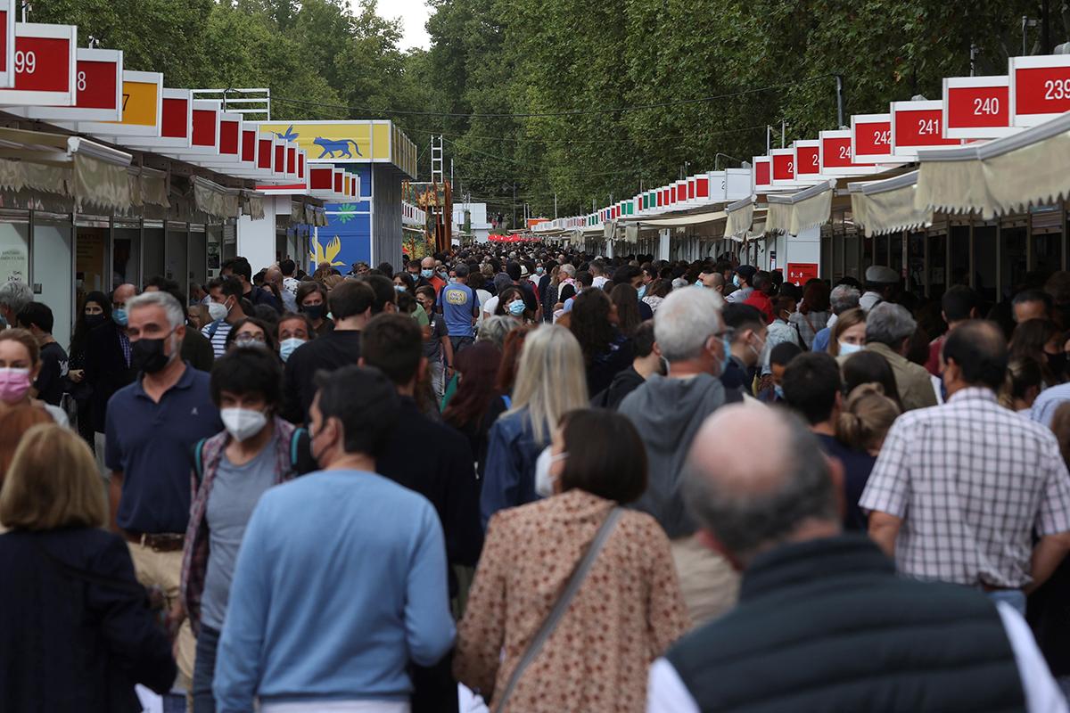 Aspecto de la Feria del Libro de Madrid.