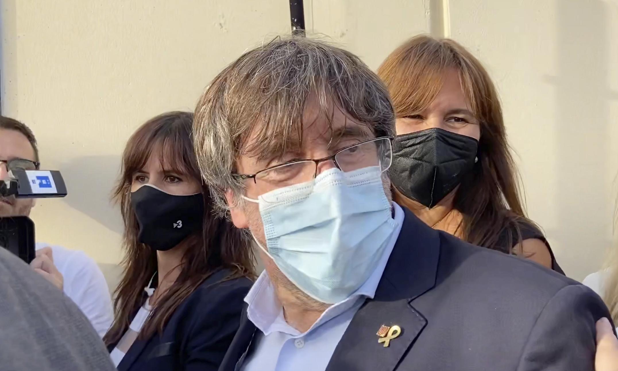 El fugado de la Justicia española Carles Puigdemont.