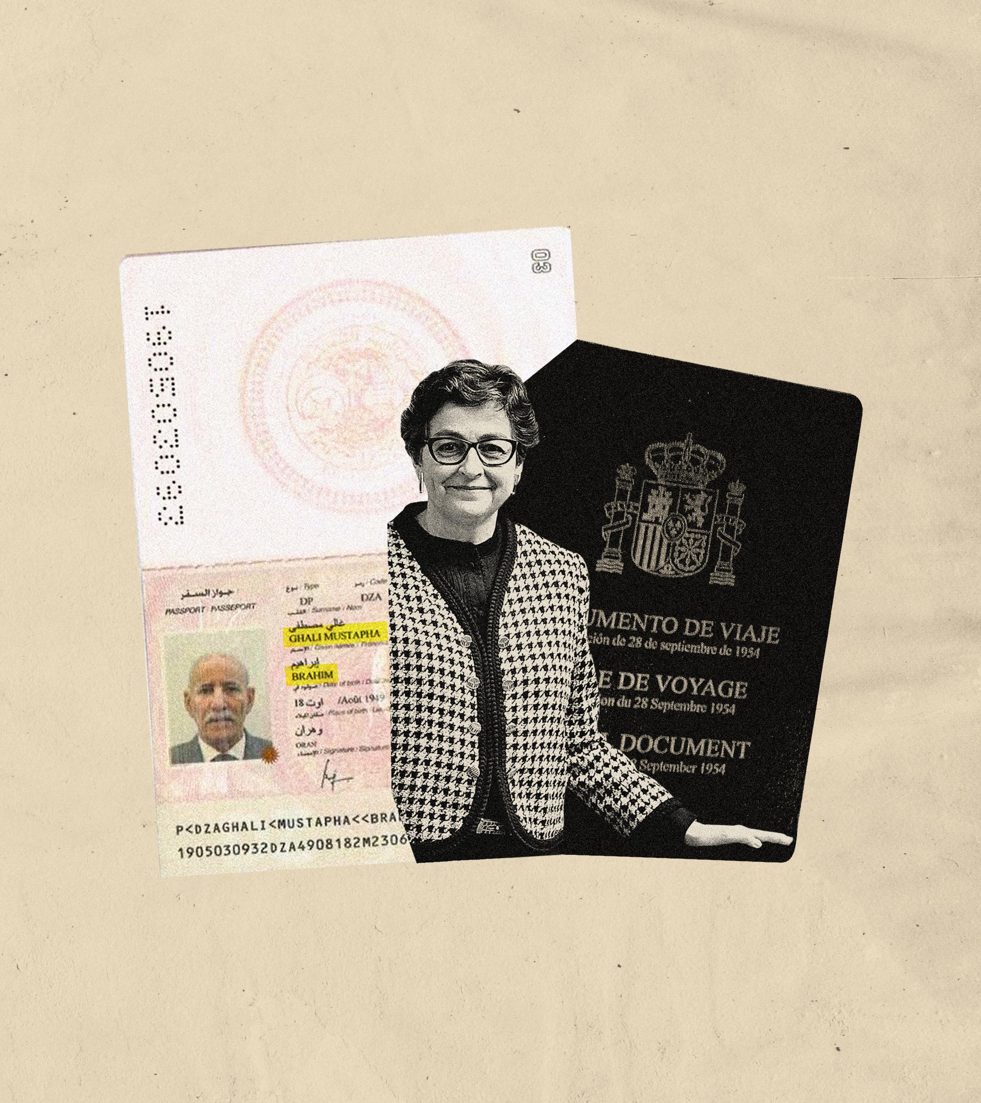 Tras la imagen de la ex ministra González Laya, el pasaporte que portaba Ghali en su última visita a España