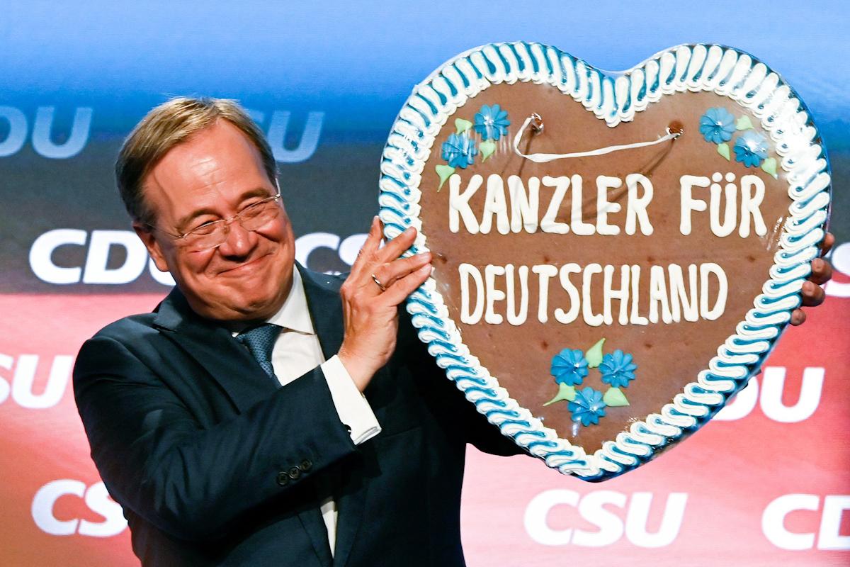 El candidato de la CDU, Armin Laschet, en Munich.