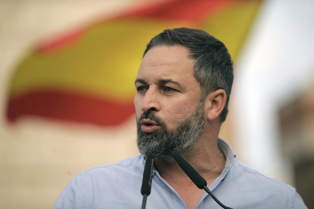 El presidente del Vox, Santiago Abascal.