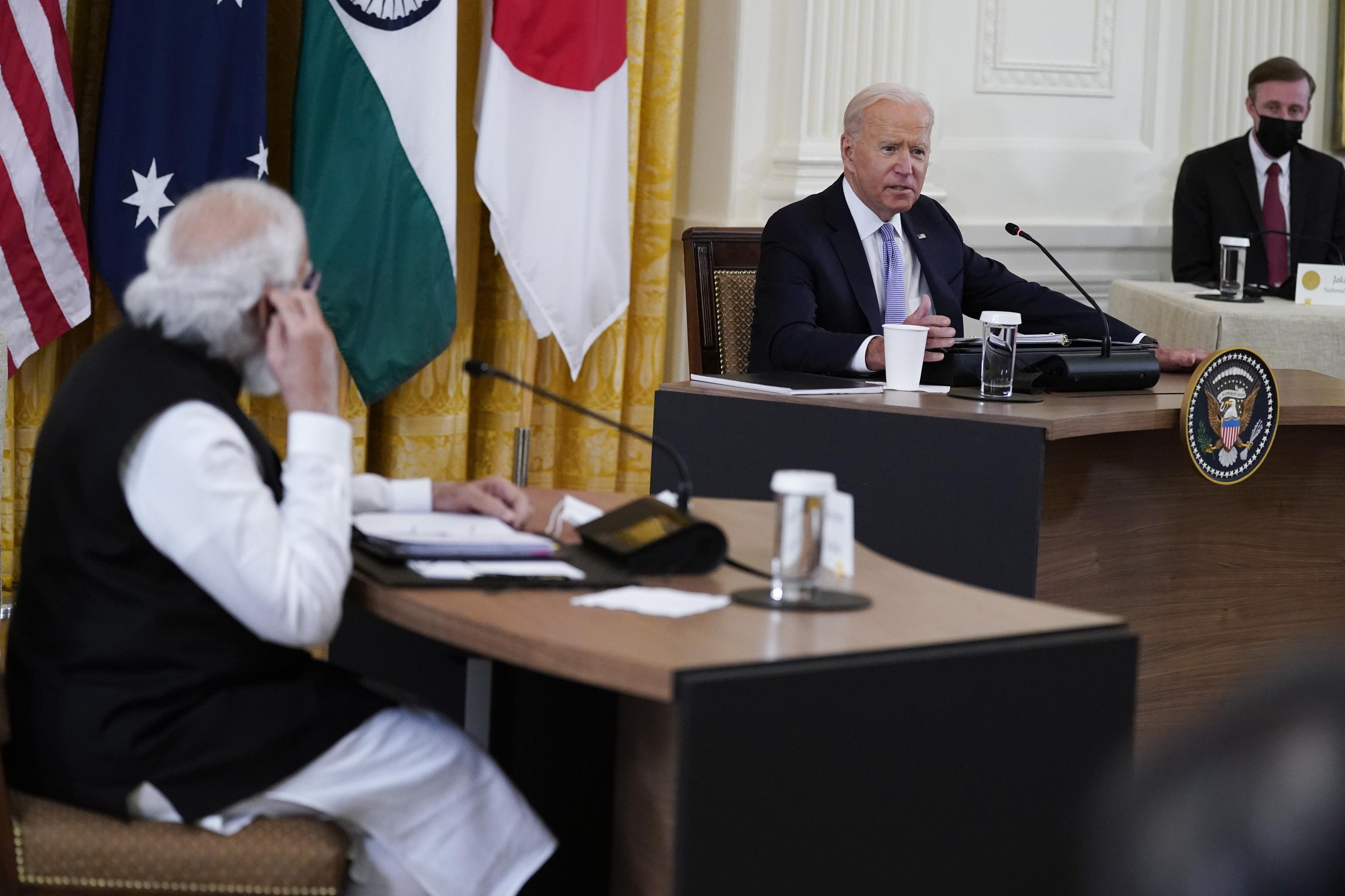 نارندرا مودی ، نخست وزیر هند و جو بایدن روز جمعه.