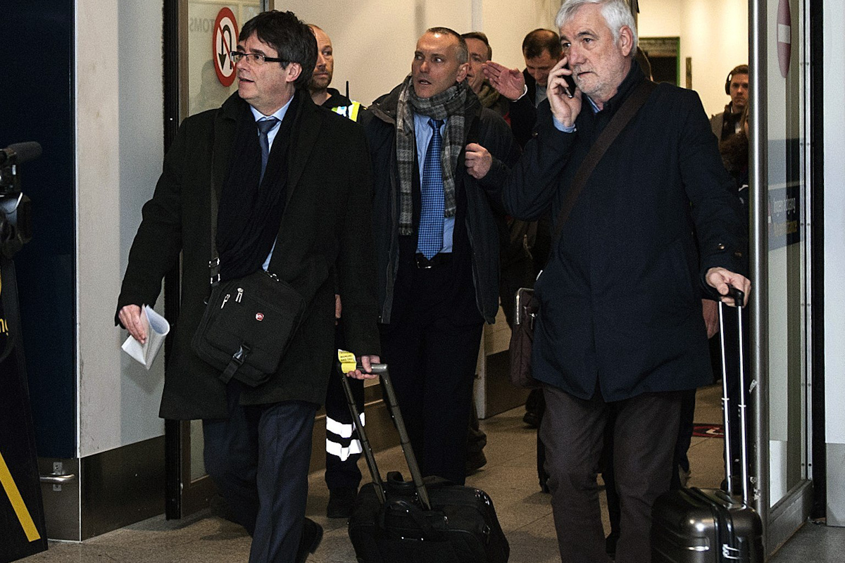 Puigdemont a su llegada a Copenhague en 2018.