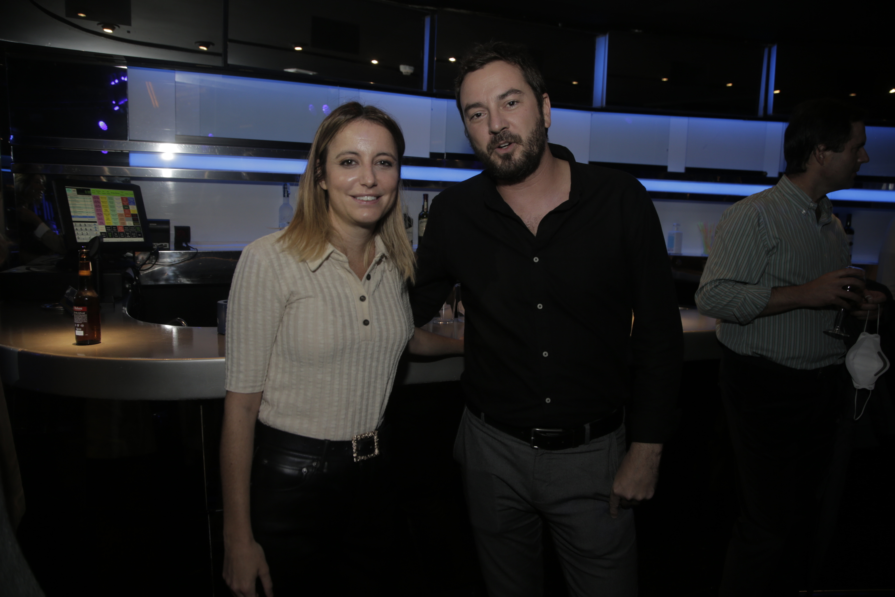 Andrea Levy y Jorge Bustos.