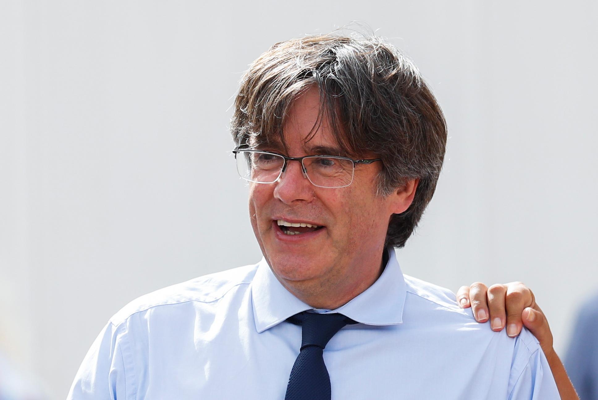 Carles Puigdemont, este sábado.