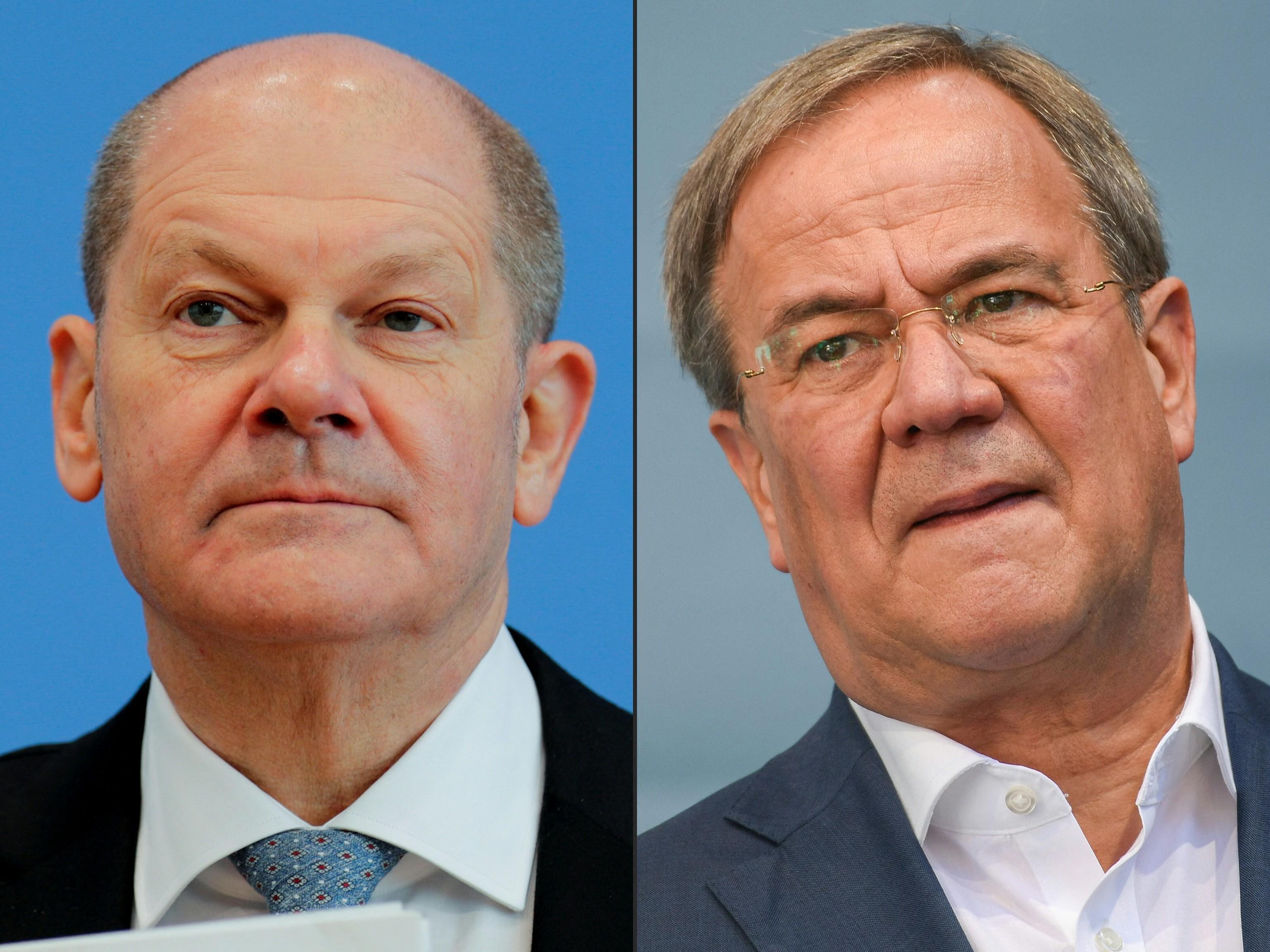 De izda. a dcha., Olaf Scholz (SPD) y Armin Laschet (CDU).